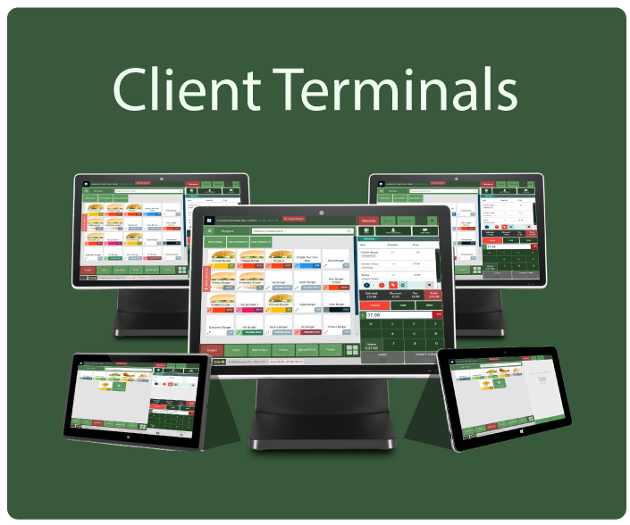 EPOS Client Terminals connects with Ebmbook Server Terminal