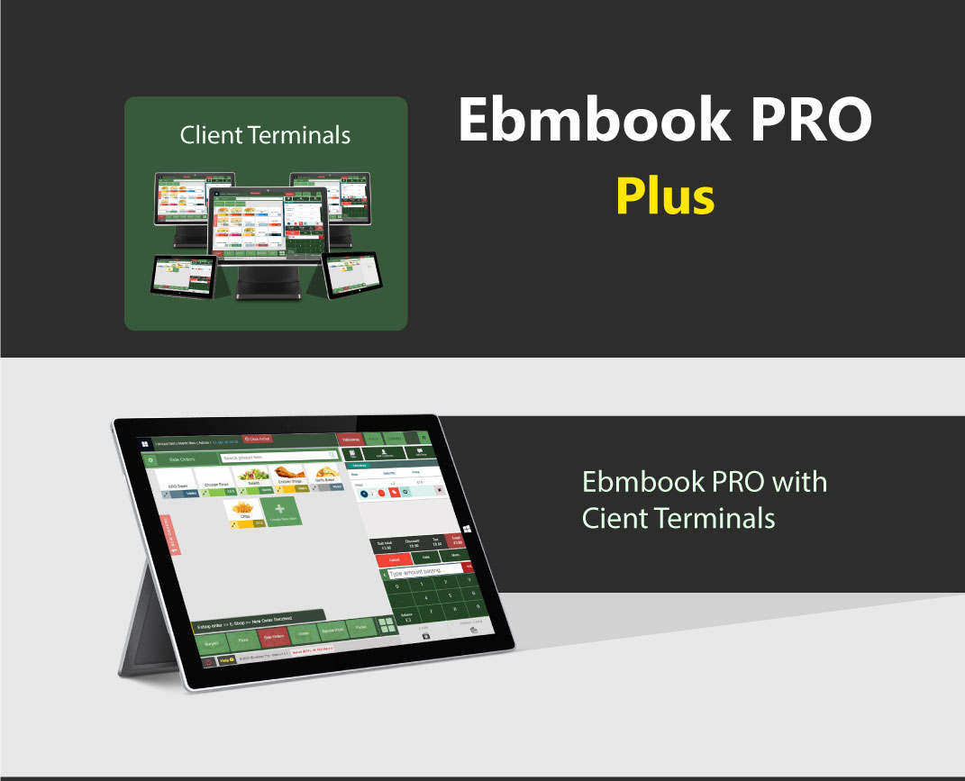 EPOS Software with client terminals